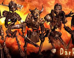 3DRT - Dark Bones Skeletons  3D Model