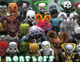 3DRT - Chibii Monsters  3D Model