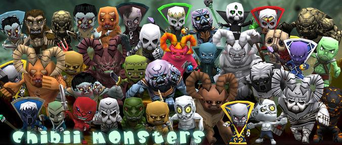 3DRT - Chibii Monsters3D model