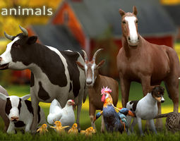 3DRT - Domestic Animals  3D Model