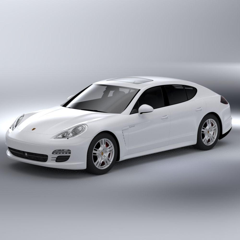Porsche Panamera Sedan: Porsche Panamera S Hybrid 3D Model .max .obj .c4d