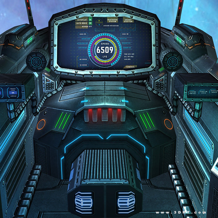 sci fi spacecraft cockpit single person - photo #21