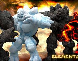3DRT - Elemental Golems  3D Model