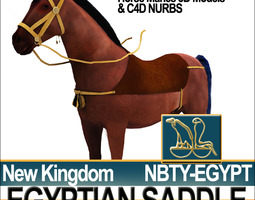 Saddle Ancient Egypt New Kingdom 3D Model