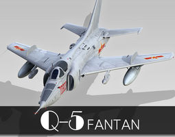 Nanchang Q-5 Fantan 3D Model
