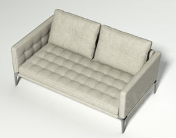 Volage Two Seater Sofa - Cassina 3D model