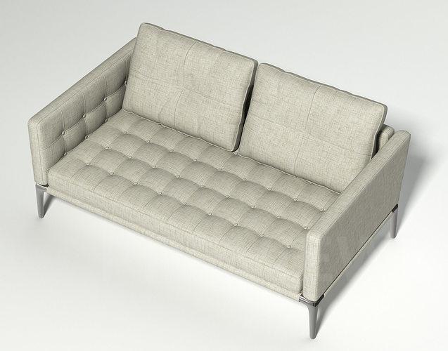 Volage Two Seater Sofa   Cassina 3d Model Max Obj Mtl Fbx 1 ...