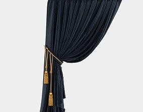 Velvet Stitched Curtain 3D model