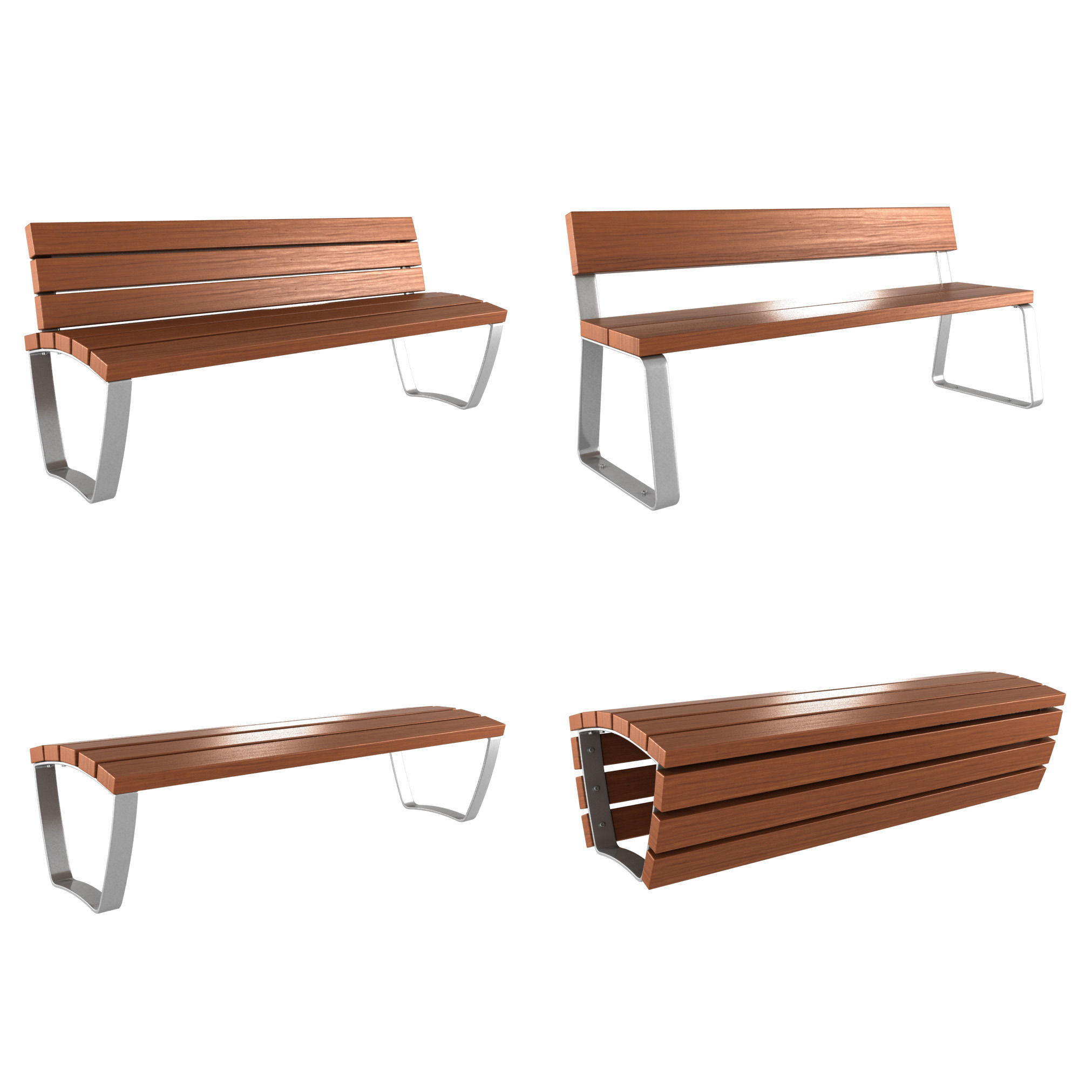 modern bench collection  d model max obj ds fbx mtl  . modern bench collection  d  cgtrader