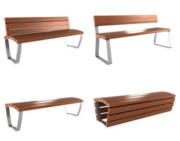 Modern Bench collection 1 3D Model