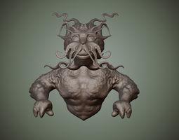 3d print model merman bust