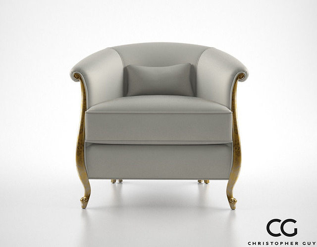 Superieur Christopher Guy Greta Armchair 3D Model