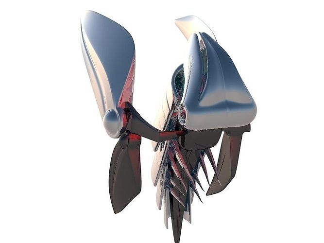 butter-fly 3d model c4d 1