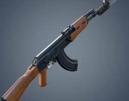 3D model Kalashnikov AK-47 assault rifle