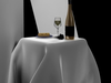 Wine and cheese 3D Model