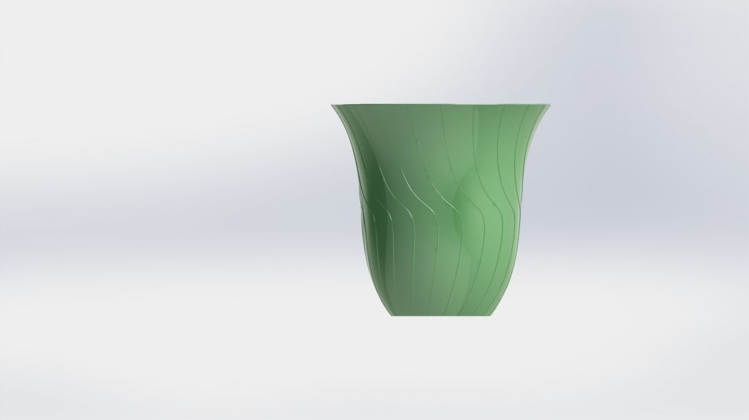 Simple Spiral Vase 3d Print Model Cgtrader