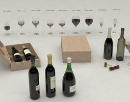 Wine set 3D Model