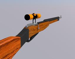 Scoped Mosin Sniper Rifle 3D Model