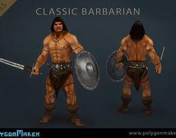 Heroes - Classic Barbarian 3D Model