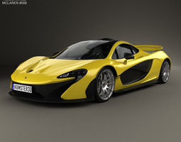 McLaren P1 with HQ interior 2014 3D Model