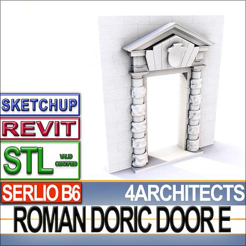 Renaissance Doric Door E Revit stl