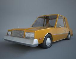 3d cartoon car buick