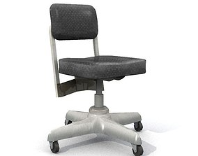 Old Office Chair 3D asset