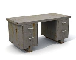 Old Rusty Office Desk 3D asset