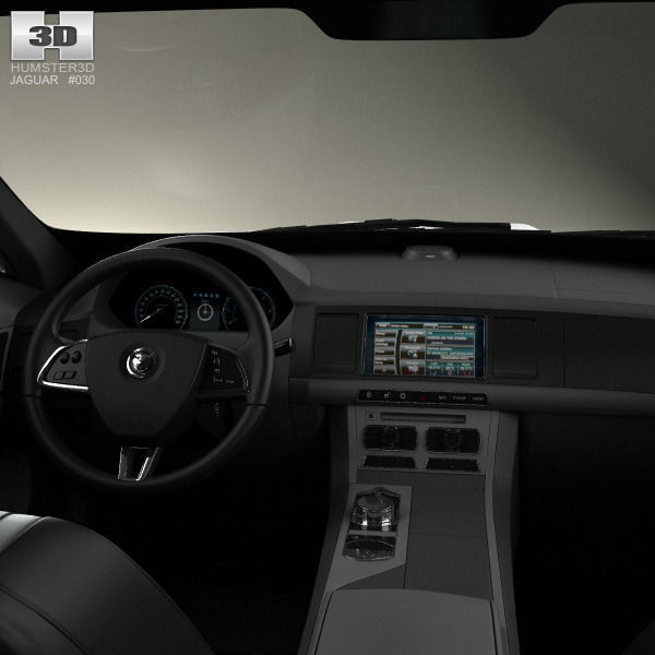 jaguar xf with hq interior 2012 3d model max obj 3ds fbx c4d lwo lw lws. Black Bedroom Furniture Sets. Home Design Ideas