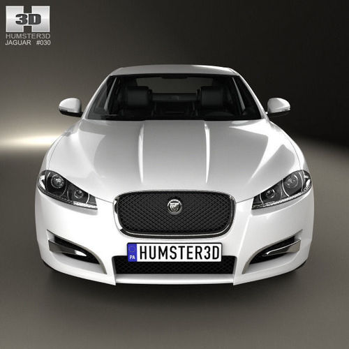 Jaguar Xf Sportbrake 2012 3d Model: Jaguar XF With HQ Interior 2012 3D Model .max .obj .3ds
