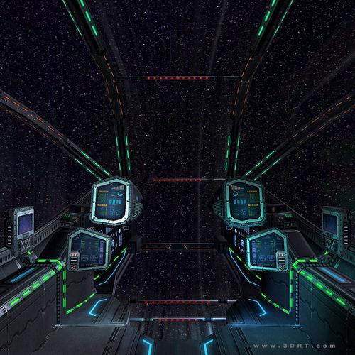 3DRT - Sci-Fi Spaceship Cockpit 33D model