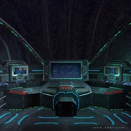 3DRT - Sci-Fi Spaceship Cockpit 53D model