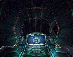 3DRT - Sci-Fi Spaceship Cockpit 7  3D Model