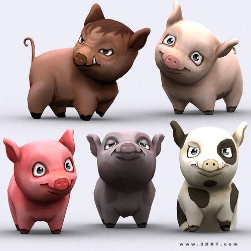 3DRT - Chibii Pig3D model