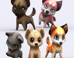 3DRT - Chibii Dogs 3D Model