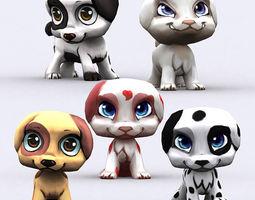 3DRT - Chibii Puppy 3D Model