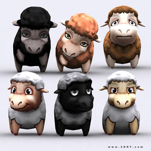 3DRT - Chibii Sheep3D model