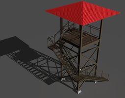 guard tower 3d asset