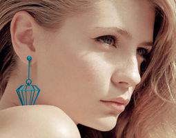 3D printable model Diamond earrings