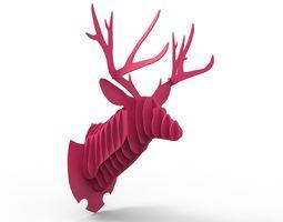 deer head trofy - 3d print