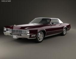 3D Cadillac Eldorado Fleetwood 1968