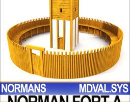 Medieval Norman Fort 3D Model