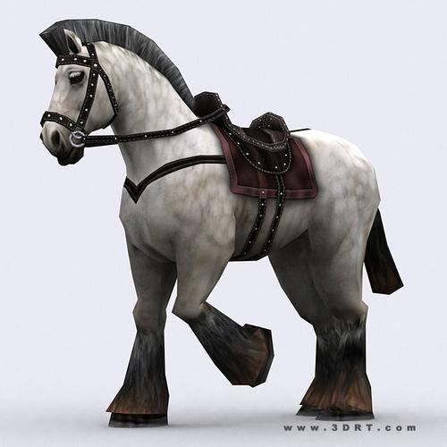 3DRT - Fantasy Mount Horse3D model