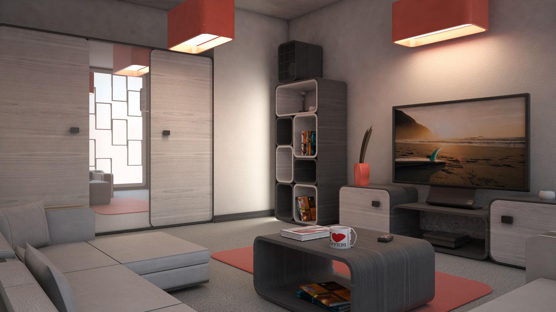 Mr living room 03 3d model max obj 3ds for Living room 3d model