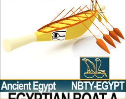 Ancient Egypt Rowboat A 3D Model