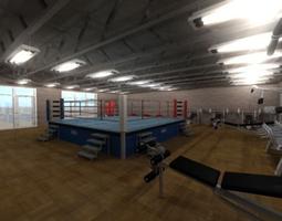Gym equipment 3D asset VR / AR ready