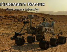 curiosity rover-mars science laboratory 3d