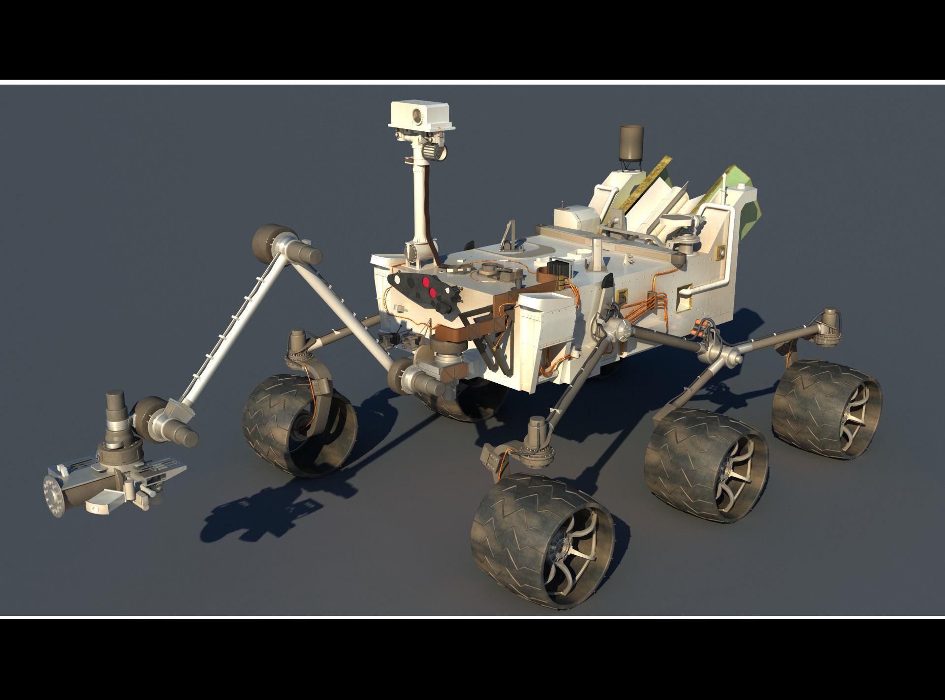 CURIOSITY ROVER-MARS SCIENCE LABORATORY 3D Model .max .obj ...