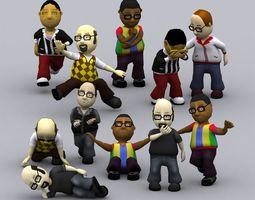 3DRT - Toonworld Characters Males 3D Model