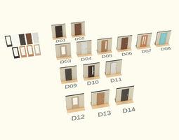 Door set 3D
